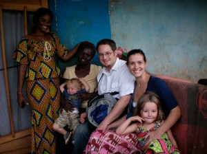 Naomi and Mercy with the Zook family in Sunyani Ghana
