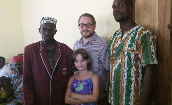 With Jonah (r) and a Fulani friend